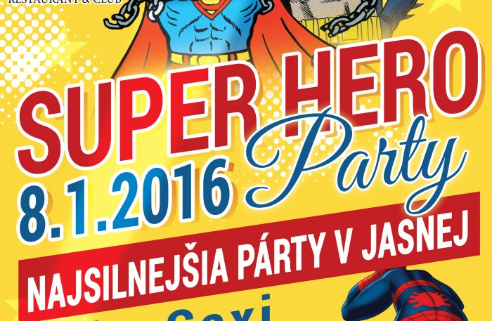 super hero party v jasnej a3